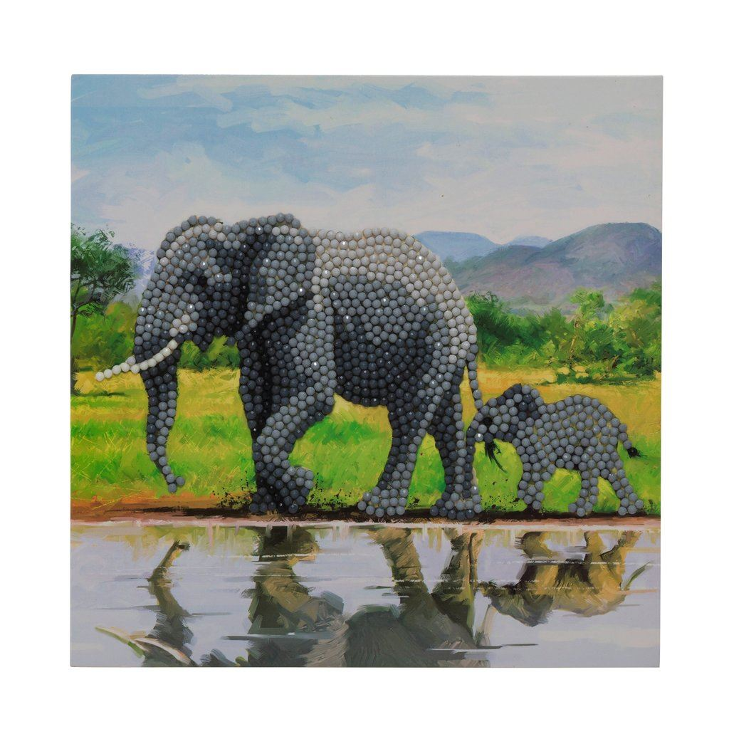 CCK-A51 Elephants Crystal Art Card Kit pic