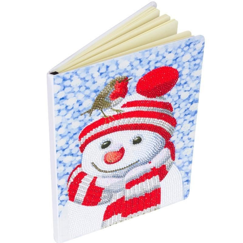 CANJ-6 Friendly Snowman - Crystal Art Christmas Notebook full