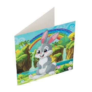 Rabbit Wonderland Crystal Art Card Kit card