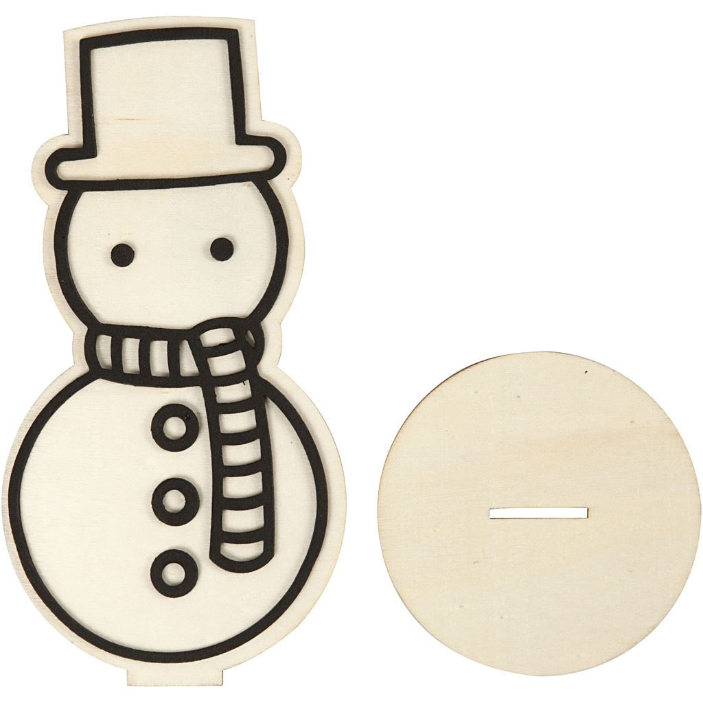 CH791947 Snowman Wooden Figure parts