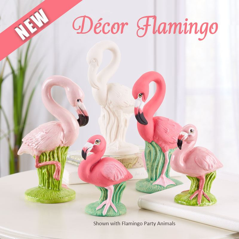7461 Decor Flamingo with Flamingo Party Animals