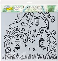 TCW728 Lanterns Acrylic Craft Stencil
