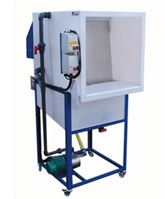 CH7076a wet back spray booth with stand