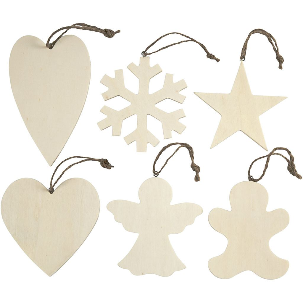 564050 Wooden Craft Ornaments Set
