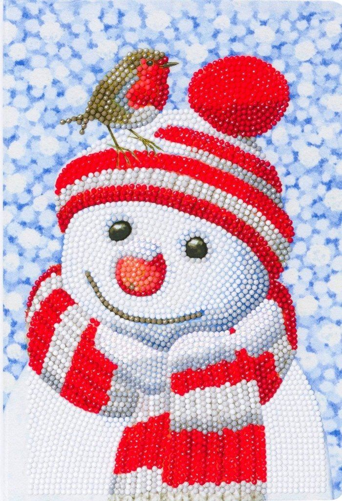 Friendly Snowman - Crystal Art Christmas Notebook CANJ-6