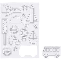 CH51235 Transport Magnets Craft Magnet Sheet
