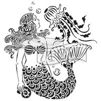 TCW783 Mermaid Dreams Acrylic Craft Stencil