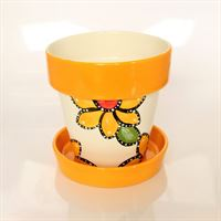 Medium Flower Pot and Saucer