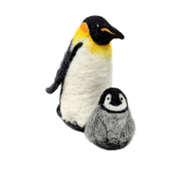 CKC-NF-151 Emporer Penguins Needle Felting