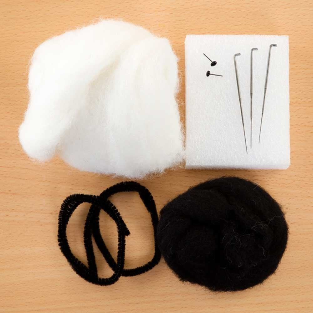 Sleepy Panda Needle Felting Kit box contents