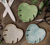 44384 Leaf Trinket Dish in True Matte Glazes
