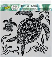 TCW610 Sea Turtle Craft Acrylic Stencil