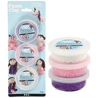 CH78136 Foam Clay 3 x 14g White Purple Pink