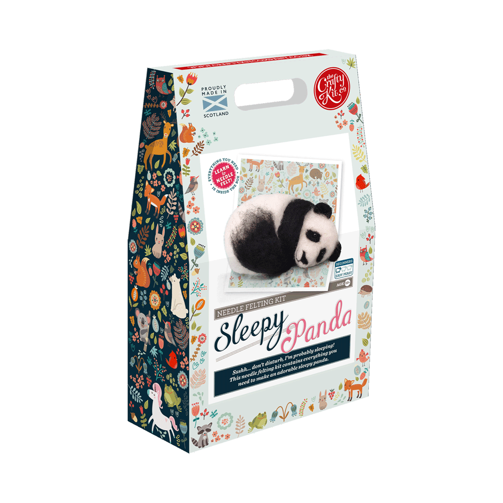 Sleepy Panda Needle Felting Kit box