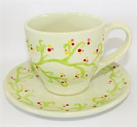 Tapered Tea Cup and Saucer