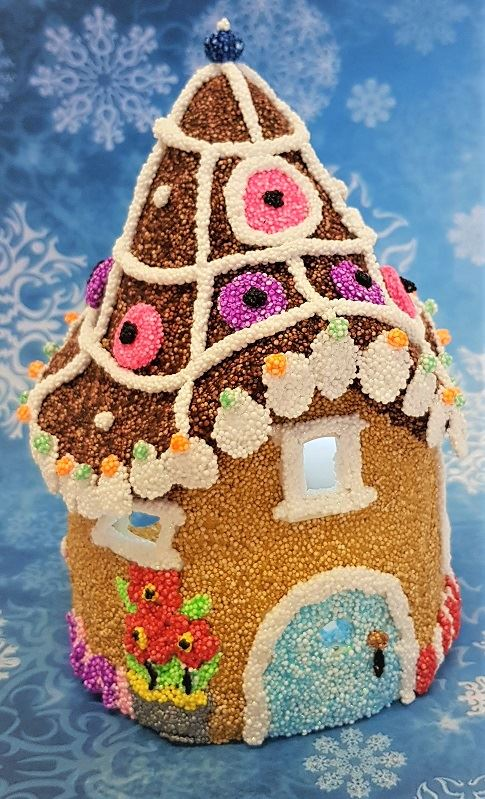 Gingerbread Style Fairy House in Foam Clay - Copy