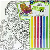 RTN253 Owl Canvas Art Kit
