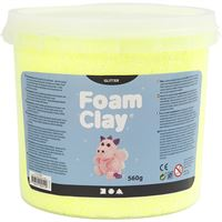 780864 Yellow Glitter Foam Clay 560g
