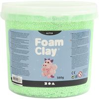 CH780830 Green Glitter Foam Clay