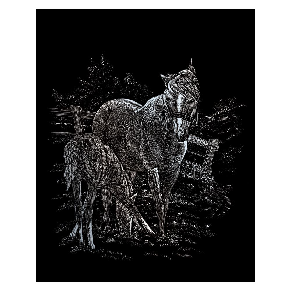 SILF15-Mare & Foal (Silver Engraving Kit)