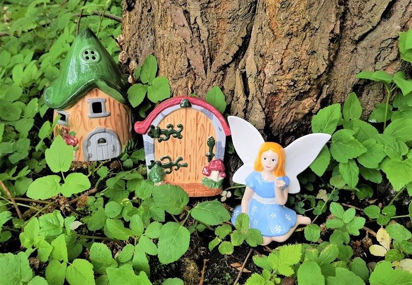 Fairy House Lantern and Fairy Door Plaque