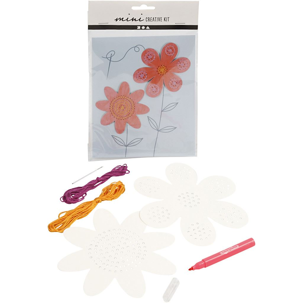 CH977218 Mini Creative Kit - Embroidery (Flowers)