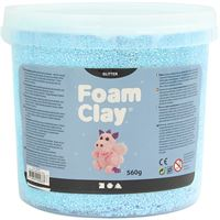 780865 Light Blue Glitter Foam Clay 560g