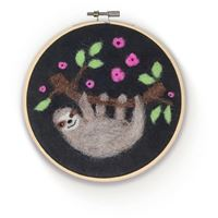 CKC-NF-180 Sloth in a Hoop Needle Felting Kit
