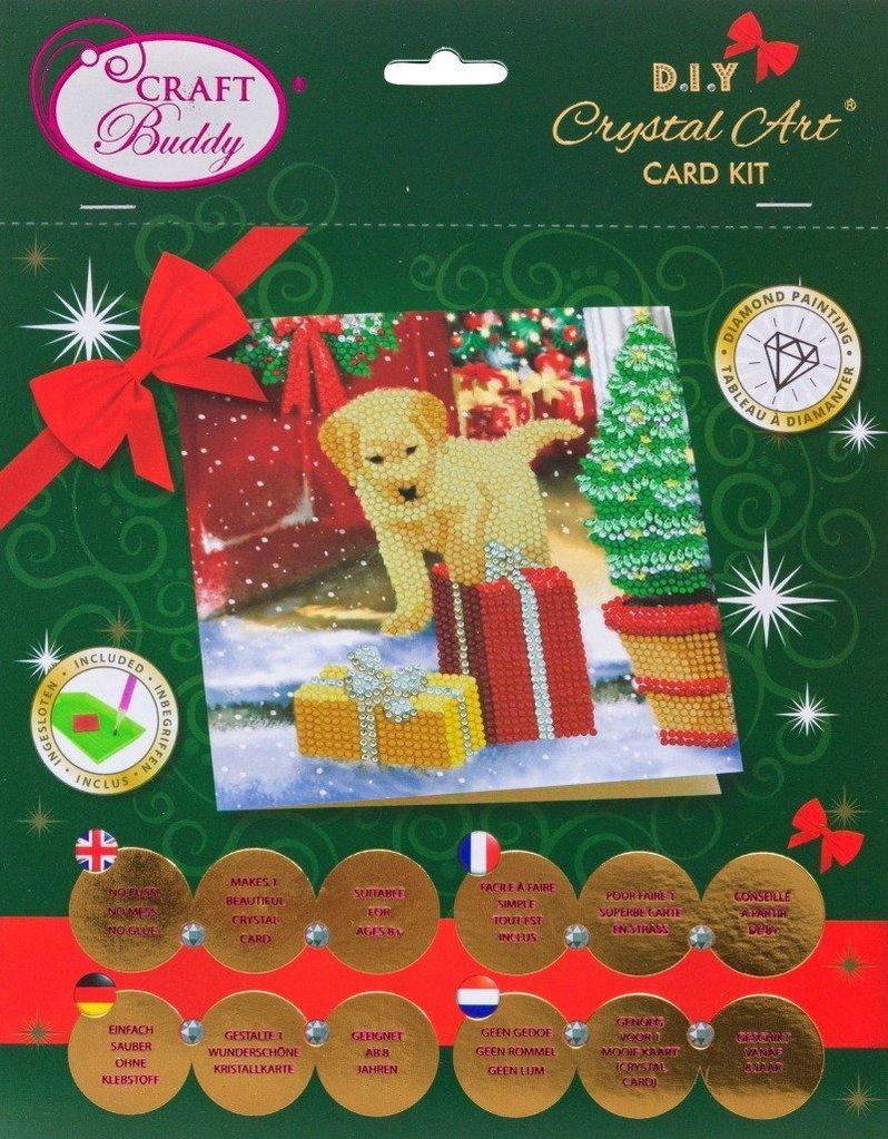 CCK-XM64 Christmas Labrador Pup - Crystal Art Card packaging