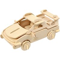 CH57858 3D Wooden Construction Kit - Car