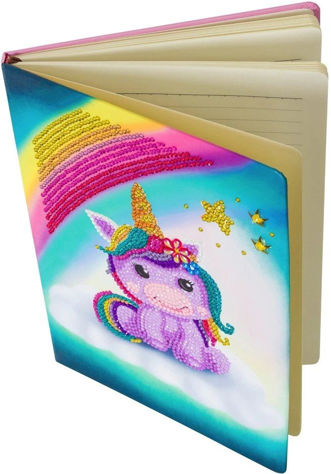 Unicorn Balloon Crystal Art Notebook