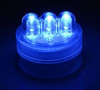 Blue LED Triple Bulb Twist Light