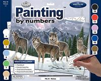 PAL19 Painting by Numbers Kit Wolves