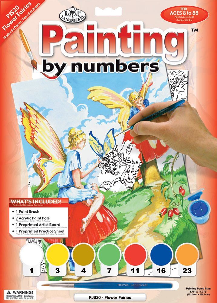 PJS20 Flower Fairies Painting by Numbers Kit outer
