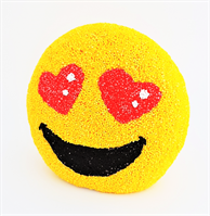 7434 Heart Eyes Emoji Bank in Foam Clay