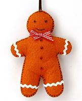 MKMAN1F Gingerbread Man Felt Craft Sewing Needlework Kit- finished