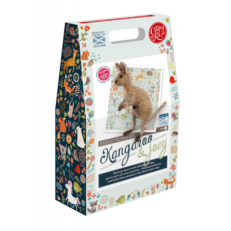 Kangaroo & Joey Needle Felting Kit box