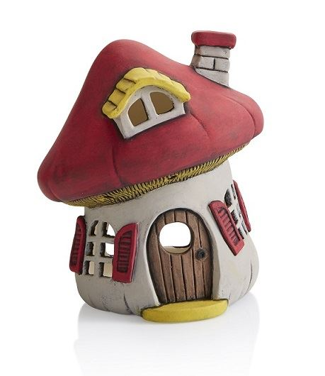 5346 Mushroom House Lantern in Party Paints