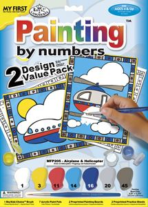 Helicopter & Airplane (2 pk Painting by Numbers) MFP205