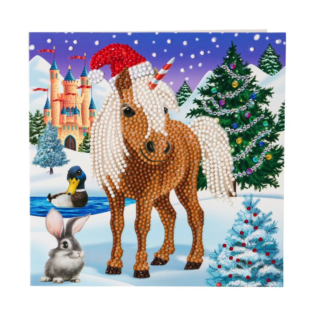 Winter Christmas Horse Make Your Own Diy Crystal Art Card Kit Diamond Art Painting Arts Crafts Crystal Art Cards Cromartie Hobbycraft Limited