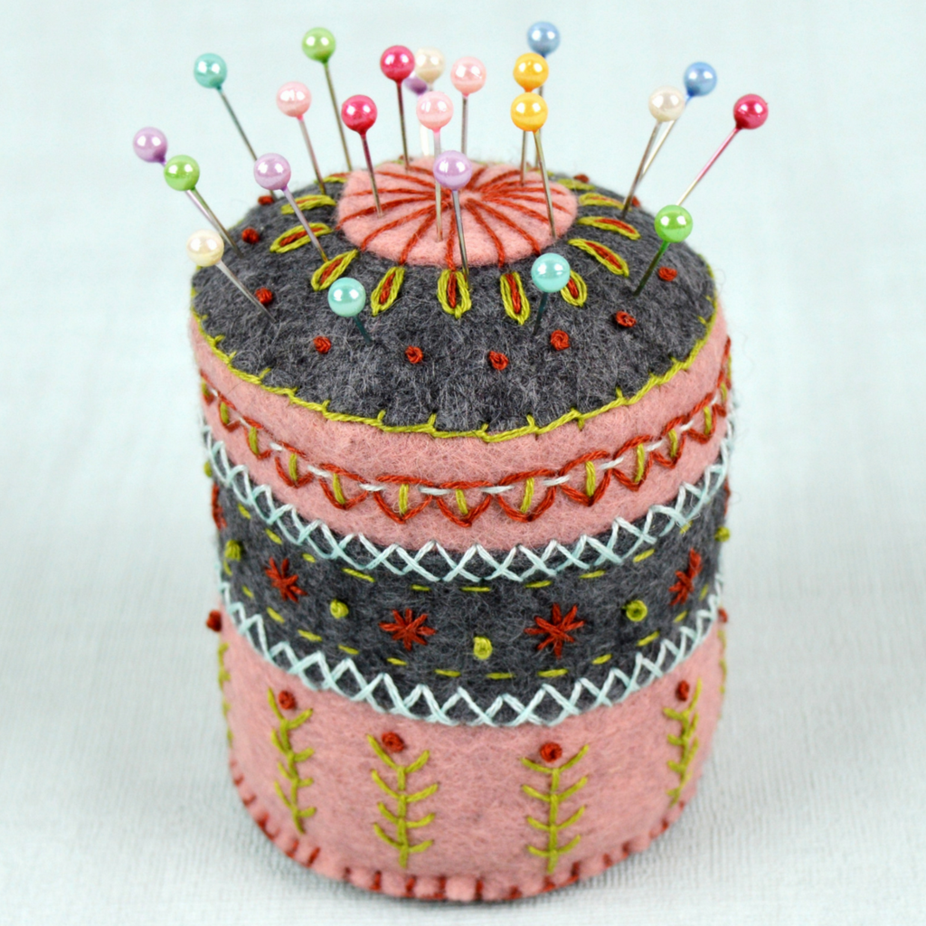 Pin Cushion Embroidery Kit