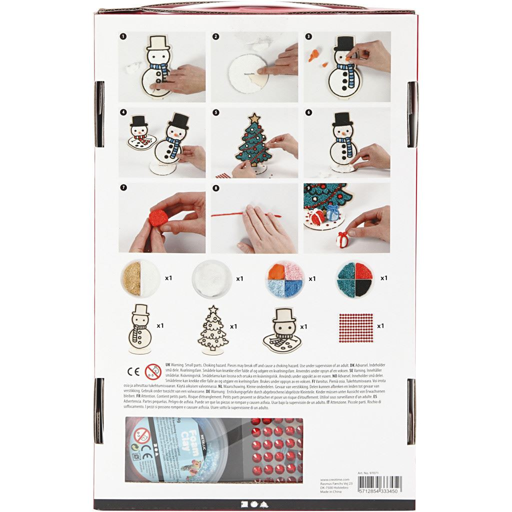 CH97071 Snowman Friends Foam Clay Kit