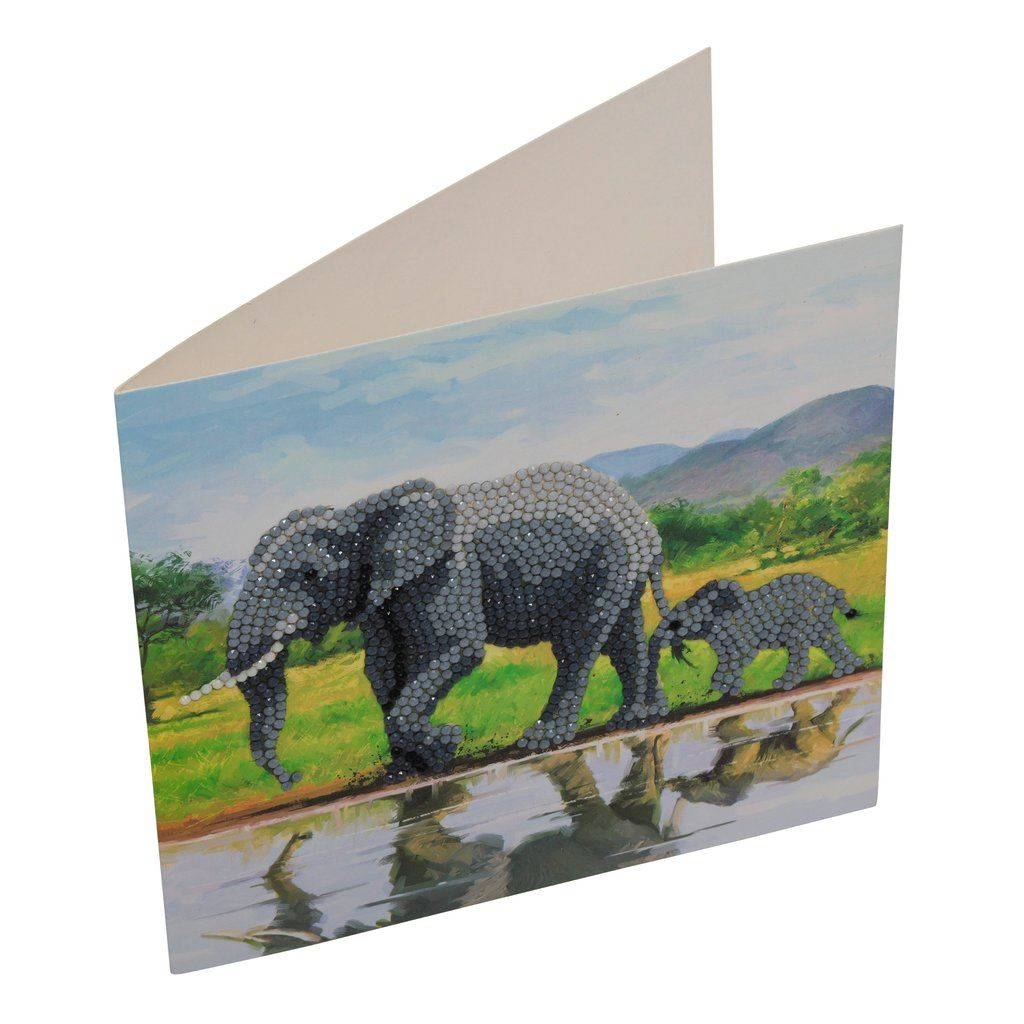 CCK-A51 Elephants Crystal Art Card Kit